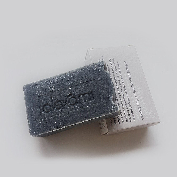 ACTIVATED CHARCOAL, ANISE & BLUE CYPRESS SOAP 120g