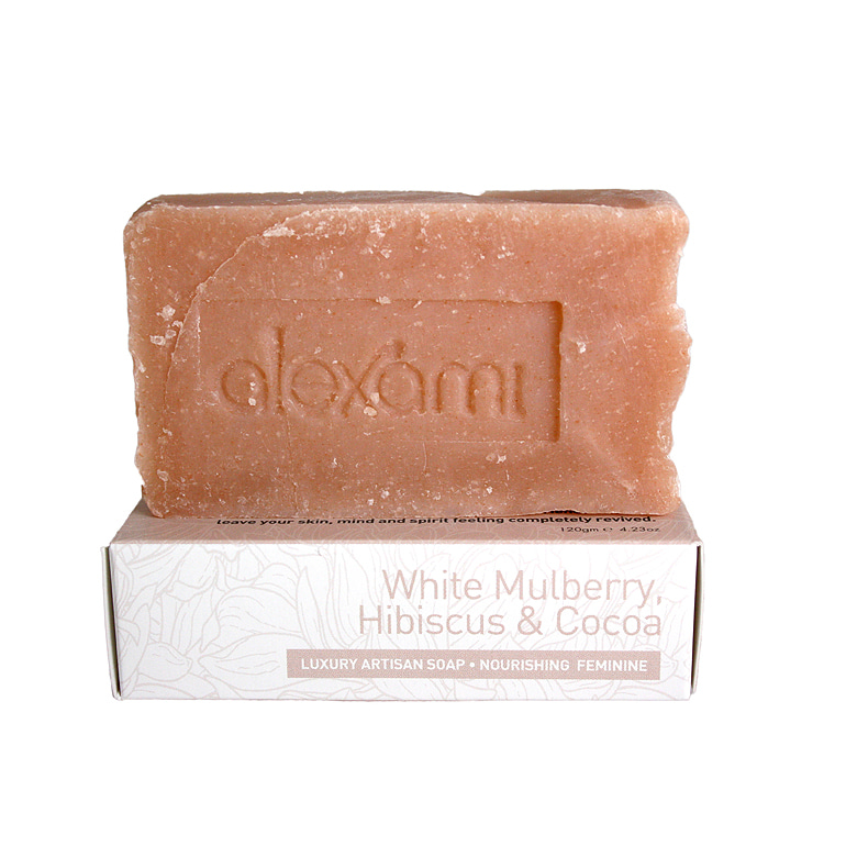 WHITE MULBERRY, HIBISCUS & COCOA ORGANIC SOAP 120g
